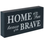 """Home of the Free"" Sentimental Decorative Wood Box"