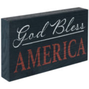 """God Bless America"" Sentimental Decorative Wood Box"