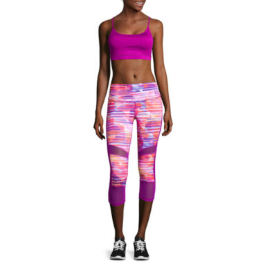jcpenney.com | Xersion™ Caged Back Bra or Shirred Mesh Mixed Capris