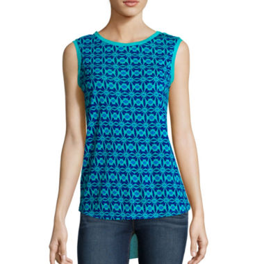 jcpenney.com | Stylus™ Mixed-Media Tank Top