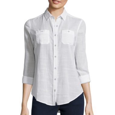 jcpenney.com | Stylus™ Long-Sleeve Gauze Shirt