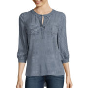 Stylus™ 3/4-Sleeve Popover Blouse - Tall
