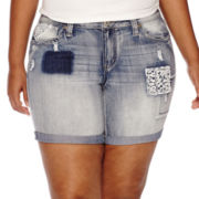 ZCO Patches and Crochet Bermuda Shorts - Plus