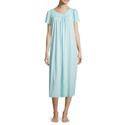 Collette By Miss Elaine Tricot Short Sleeve Long Nightgown 2236e3972
