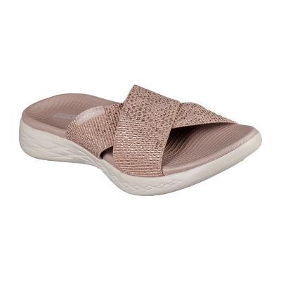 Skechers On The Go 600 Glistening Womens Sandals