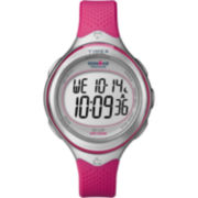 Timex® Ironman® Womens Pink Resin Digital Watch
