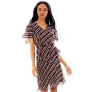 Duro Olowu for jcp Belted Peplum Ruffle Dress