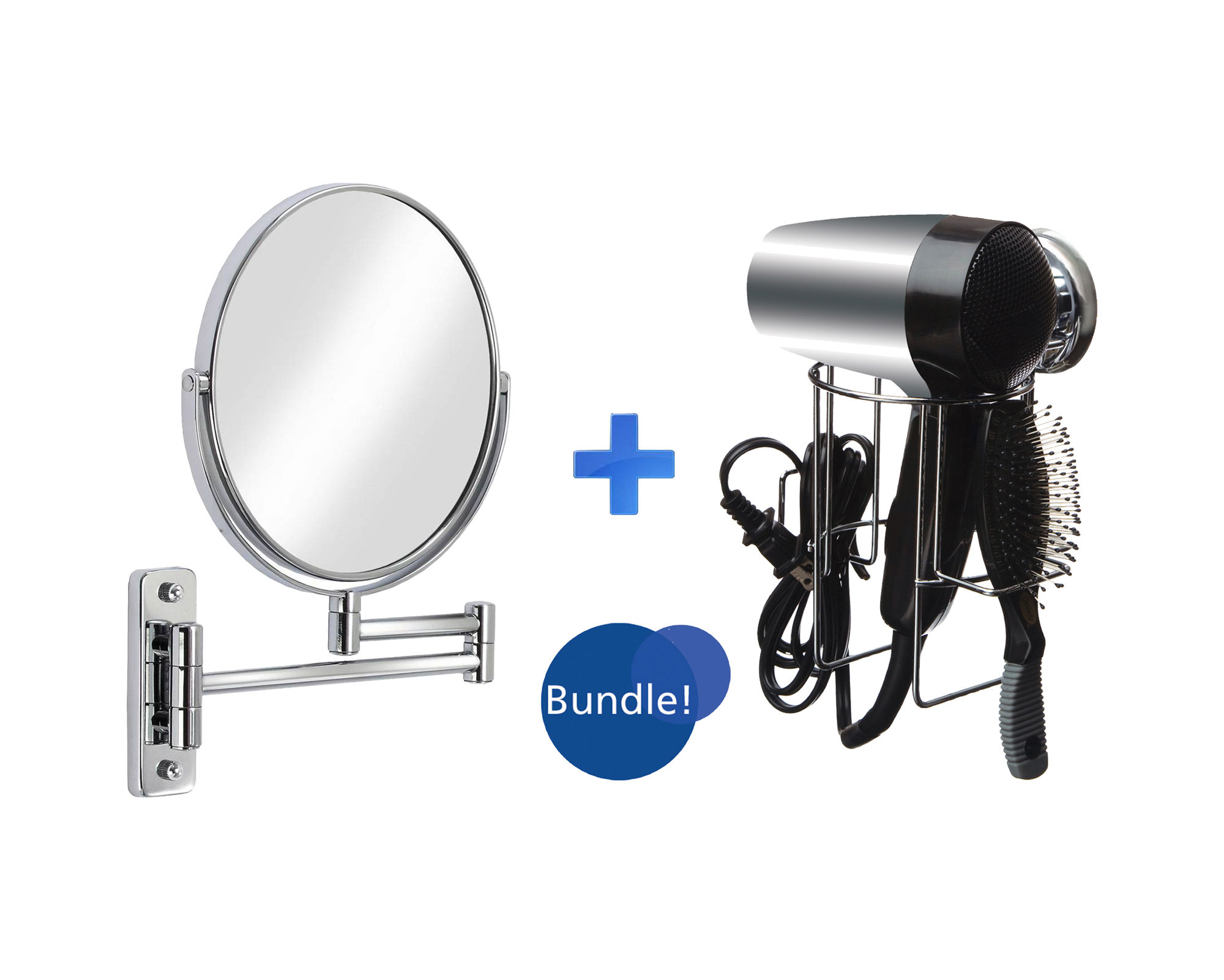 Sure-Loc Hair Dryer Holder & Cosmo Vanity Mirror Bundle