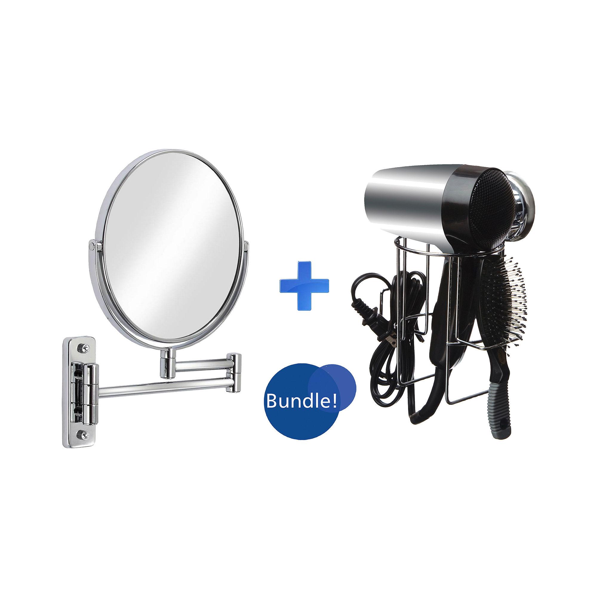 Sure-Loc Hair Dryer Holder & Cosmo Vanity Mirror Bundle
