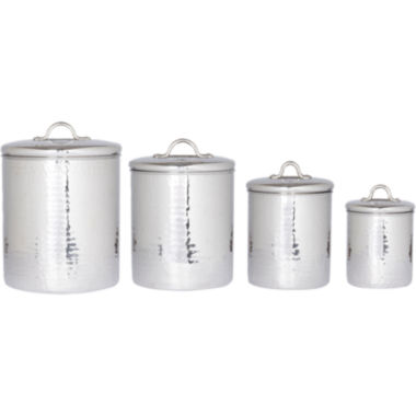 jcpenney.com | Old Dutch International® 4-pc. Hammered Stainless Steel Canister Set