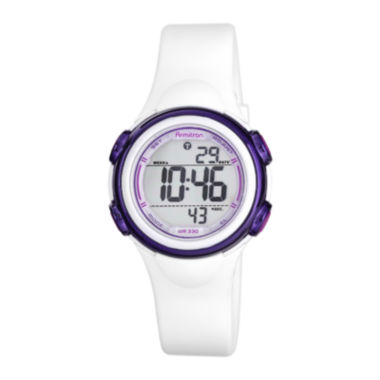 jcpenney.com | Armitron® ProSport Womens Digital Sport Chronograph Watch 45/7037WHT