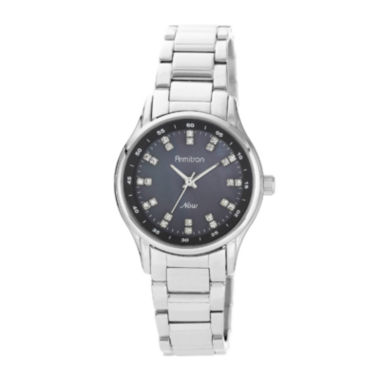 jcpenney.com | Armitron® Now® Womens Crystal-Accent Stainless Steel Watch
