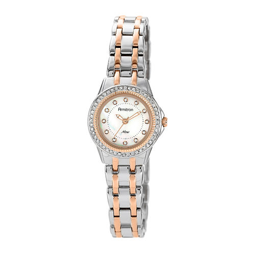 Armitron® Now® Womens Crystal-Accent Two-Tone Stainless Steel Watch