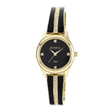 jcpenney.com | Armitron® Now® Womens Crystal-Accent Gold-Tone Open Bangle Watch