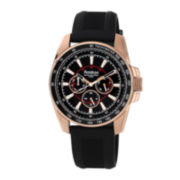 Armitron® All Sport Mens Rose-Tone Silicone Strap Multifunction Watch