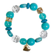 Mixit® Heart Charm Stretch Bracelet