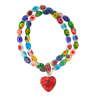 jcpenney.com | Dazzling Designs™ Multicolor Glass Stone Double Row Stretch Bracelet