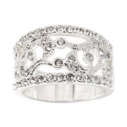 city x city® Pure Silver-Plated Crystal Vintage Ring