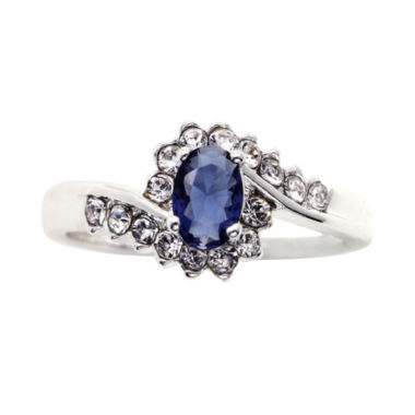 jcpenney.com | city x city® Pure Silver-Plated Crystal & Blue Glass Ring