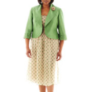 Dana Kay Polka Dot Dress with Jacket - Plus