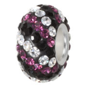 Forever Moments™ Pavé White, Black and Purple Crystal Charm Bracelet Bead