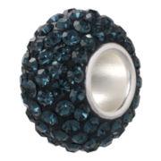 Forever Moments™ Pavé Dark Blue Crystal Charm Bracelet Bead