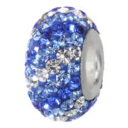 Forever Moments™ Pavé Shades of Blue Crystal Charm Bracelet Bead