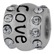 Forever Moments™ Crystal Love Charm Bracelet Spacer Bead