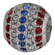 Forever Moments™ Pavé Patriotic Crystal Charm Bracelet Spacer Bead