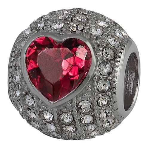 Forever Moments™ Pavé Heart Charm Bracelet Bead