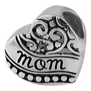Forever Moments™ Oxidized Mom Heart Charm Bracelet Bead
