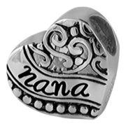 Forever Moments™ Oxidized Nana Heart Charm Bracelet Bead