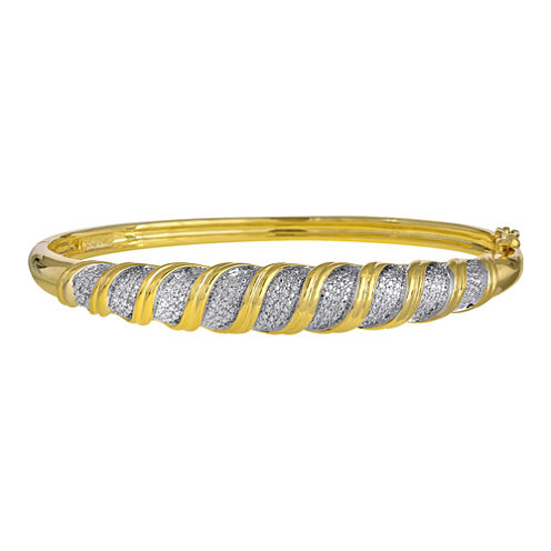 1/10 CT. T.W. Diamond Bangle Bracelet