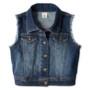 Arizona Blue Denim Vest - Girls 6-16 and Plus
