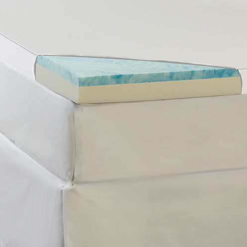 """Comforpedic from Beautyrest® 2"""" Gel Memory Foam Topper with 100% Cotton Cover"""
