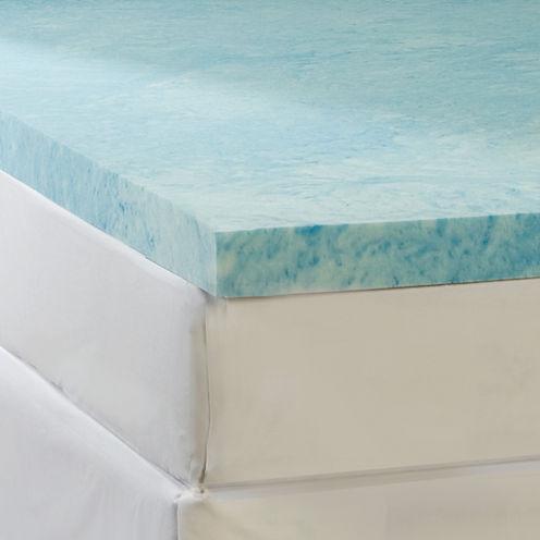 """Comforpedic from Beautyrest® 4"""" Gel Memory Foam Flat Topper"""