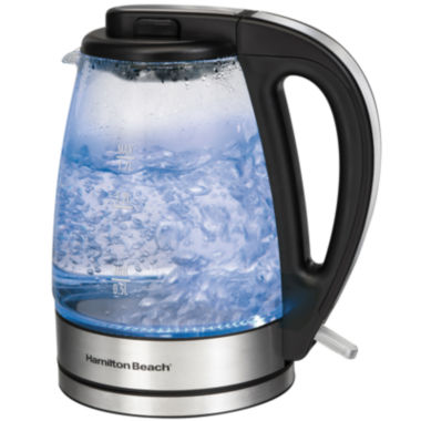 jcpenney.com | Hamilton Beach® 1.7-Liter Glass Electric Kettle