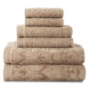Royal Velvet® Sculpted 6-pc. Bath Towel Set