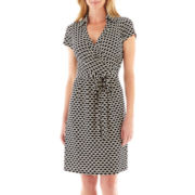 DR Collection Print Wrap Dress