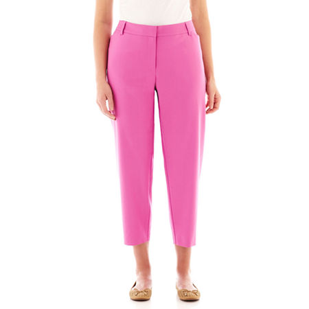 Liz Claiborne Slash-Pocket Twill Capris - Plus