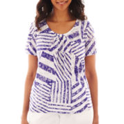 Alfred Dunner® Classics Block-Striped Burnout Top
