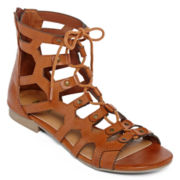 MIA girl Twizzler Lace-Up Gladiator Sandals