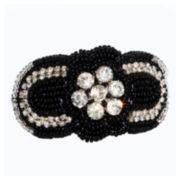 Endless Beauty Black and White Flower Hair Tie