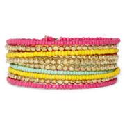 Decree® Multicolor Seed Bead Coil Bracelet