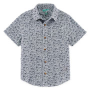 Arizona Button-Front Poplin Shirt - Boys 4-7
