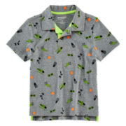 Arizona Skull Print Polo - Preschool Boys 4-7