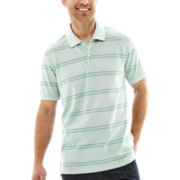 St. John's Bay® Striped Legacy Oxford Piqué Polo