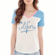 Arizona Raglan-Sleeve V-Neck Baseball T-Shirt