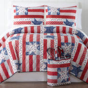 Home Expressions™ Liberty Quilt Set + BONUS Tote Bag