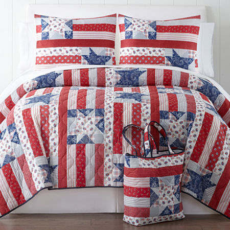 Home Expressions Liberty Quilt Set + BONUS Tote Bag
